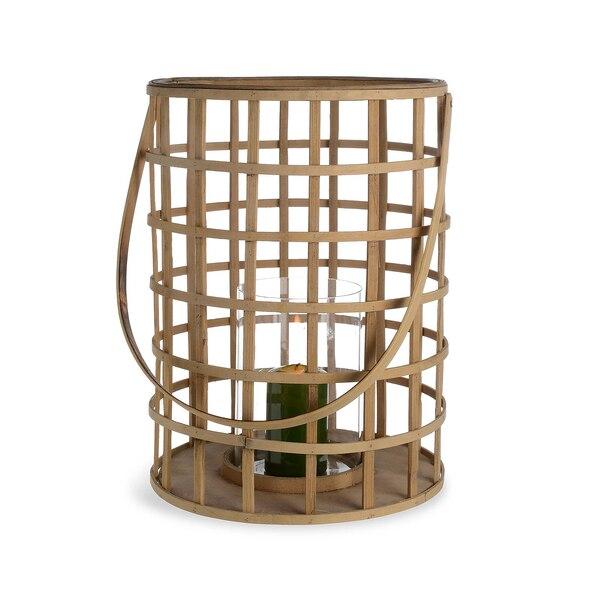 Bambus-Laterne, 2-teilig, natur