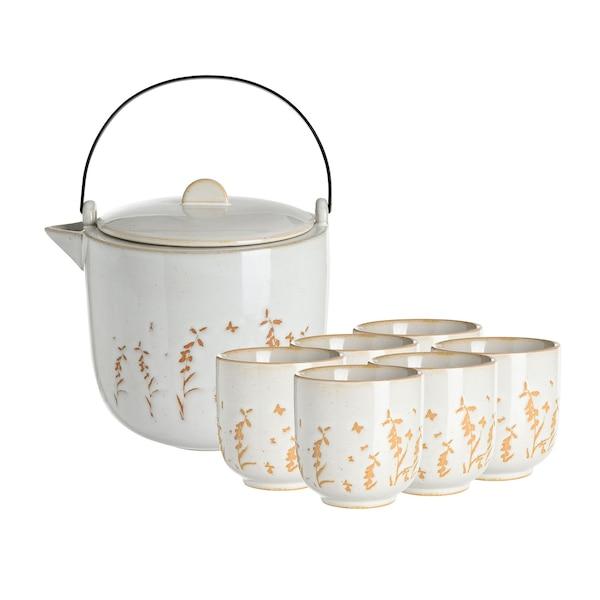 Set Teekanne mit Bechern, 7-teilig, ohne Farbe
