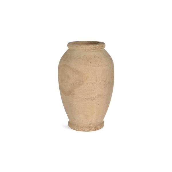 Vase aus Holz, natur