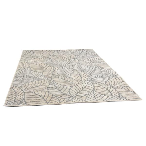 In- & Outdoor-Teppich DEPOT Blätter, grau
