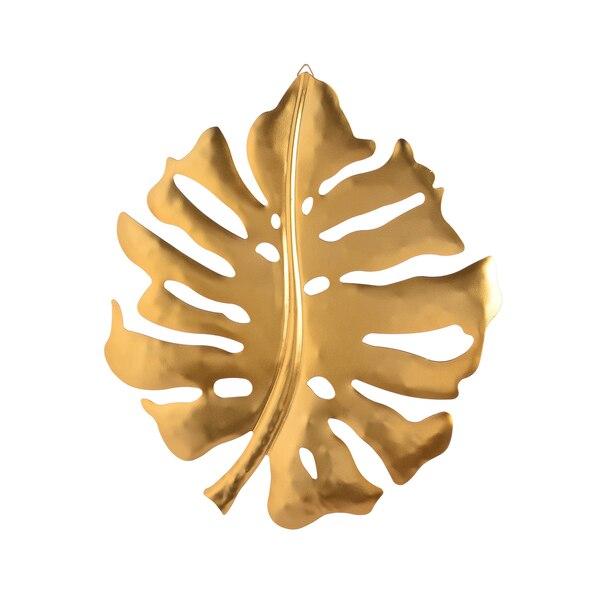 Wanddeko Monstera, gold