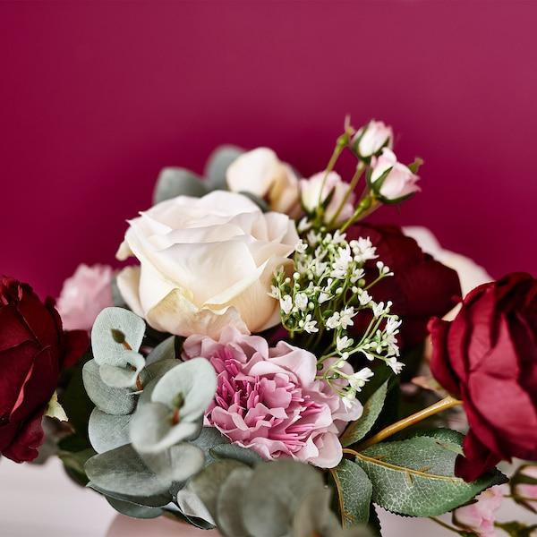 Kunstblume Rose, weiß