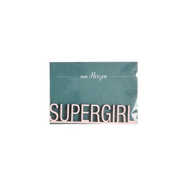 Schriftzug Supergirl, hellrosa