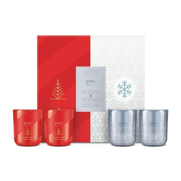 ipuro Duftkerze Limited Edition Set, Dear Santa & Make a Wish, ohne Farbe