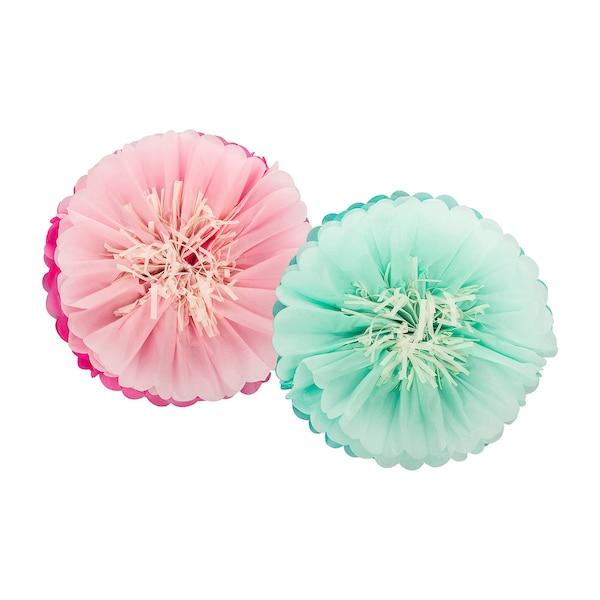 Pompom Blüte, multicolore