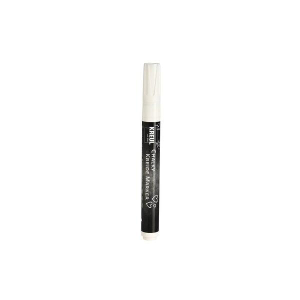 Kreidemarker, D: 2-3mm, weiß