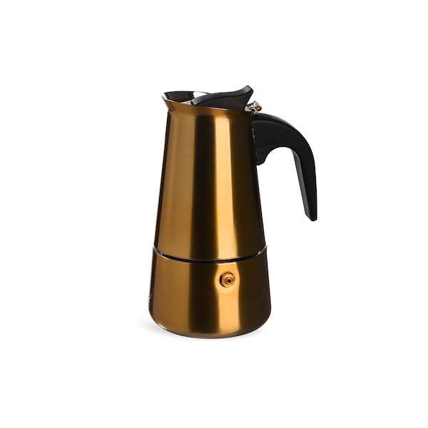 Espressomaker für 4 Tassen, gold