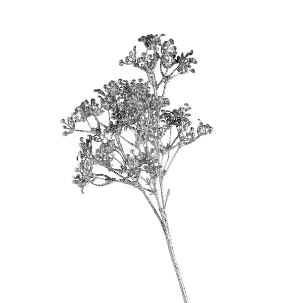 Kunstblume Glimmerbeere, silber