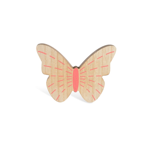 Dekofigur Schmetterling aus Holz, lachs