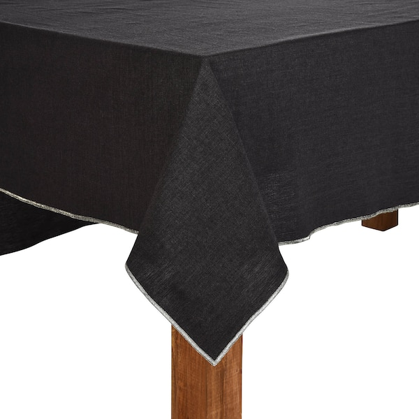 Nappe de table Edge, gris foncé