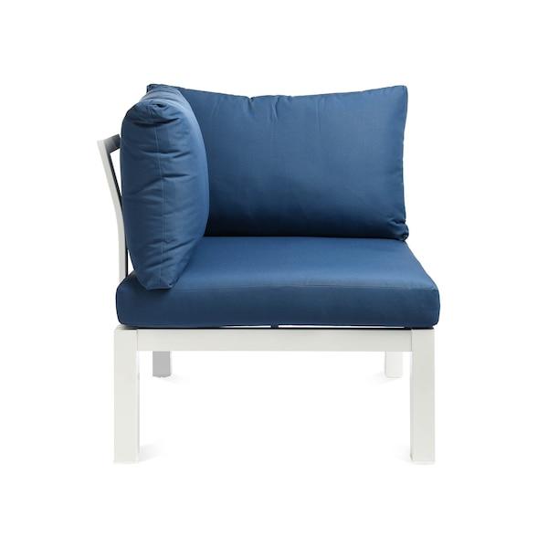 Outdoor-Eck-Loungeelement DEPOT, blau