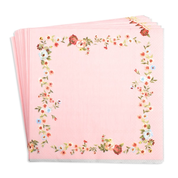 Serviette Vintagerose, rosa