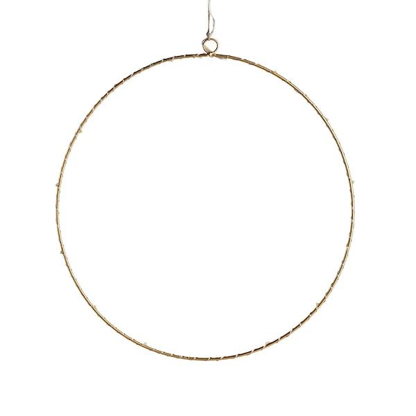Lichtobjekt Ring, gold