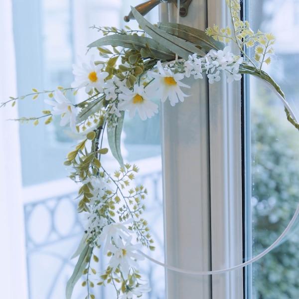 Bague en métal fleuri
