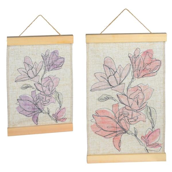 Set Wandbehang Magnolia, pastell
