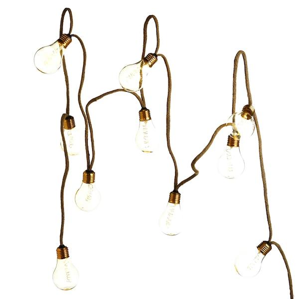 Outdoor-Solarlichterkette Glühbirnen, gold