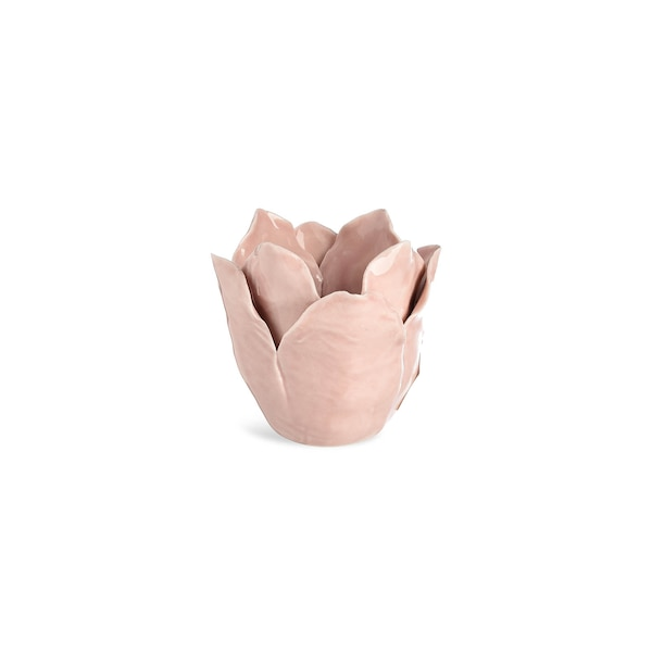Teelichthalter Blüte, rosa