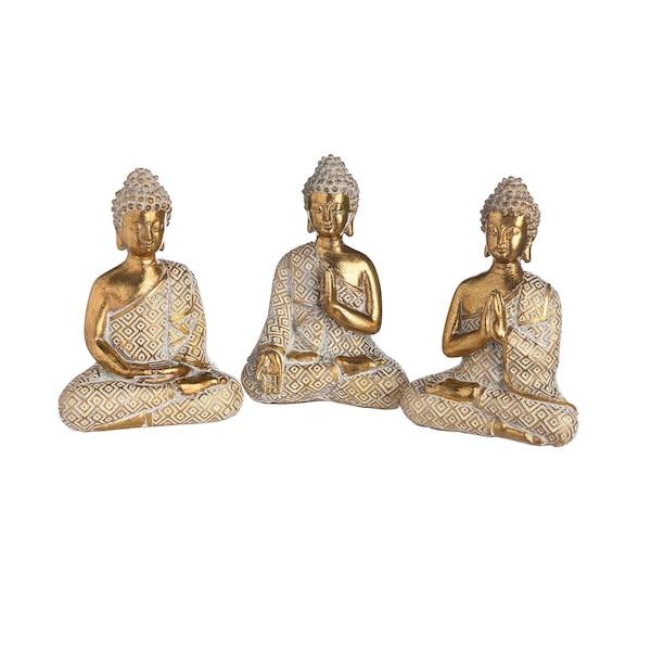Dekofiguren Buddha, gold