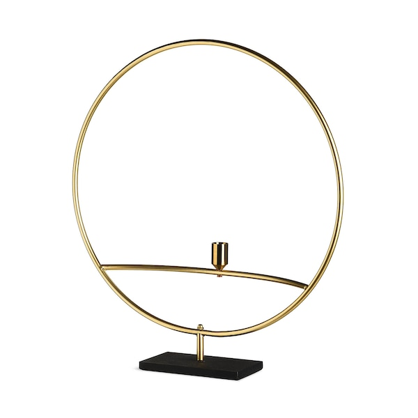 Kerzenhalter Circle, gold