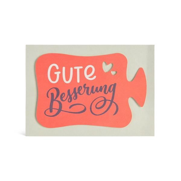 Postkarte Gute Besserung, bunt