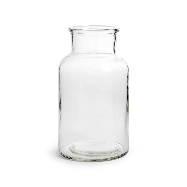 Kelchvase aus Glas, klar