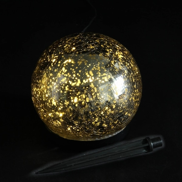 Outdoor-Lichtobjekt Kugel, gold