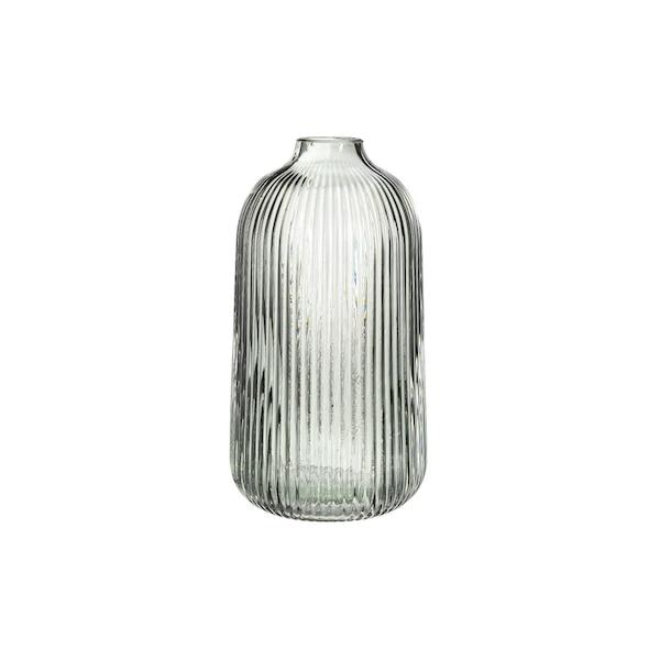 Vase Rills, graugrün