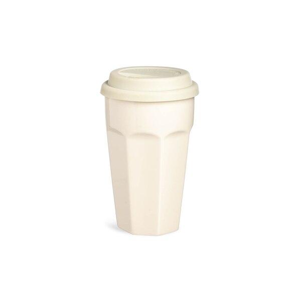 Latte Becher To Go, Retro, creme