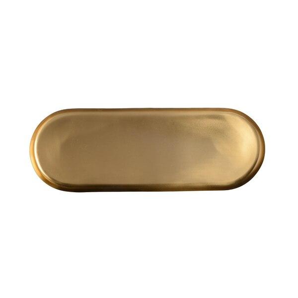 Dekotablett aus Metall, gold