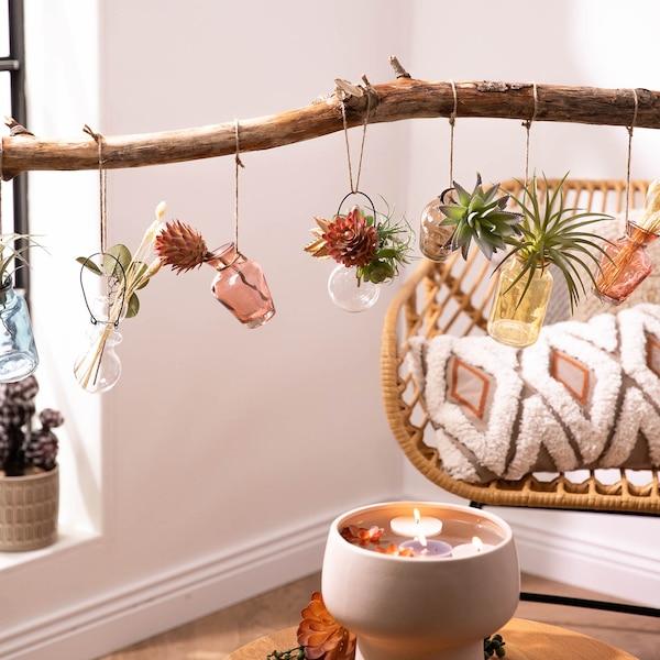DIY mini vases suspendus