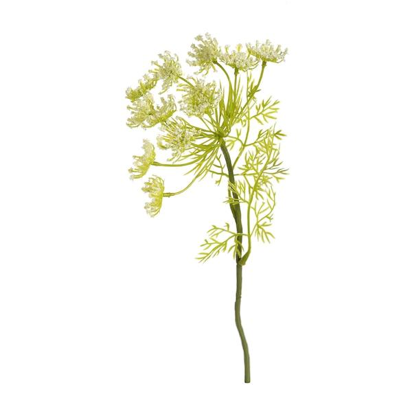 Kunstblumenpick Wiesendill, weiß