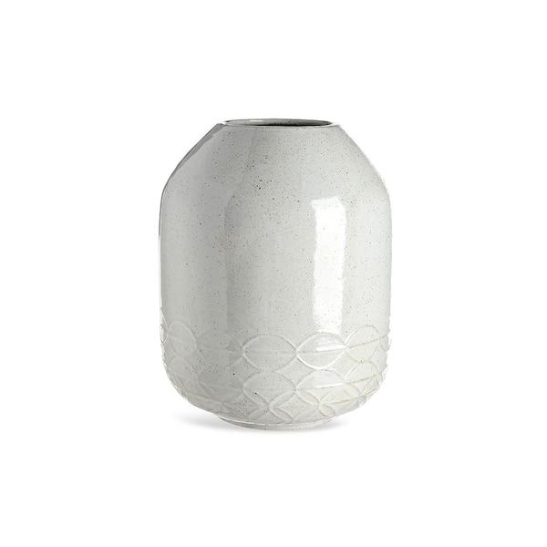 Vase avec motif poisson, gris clair