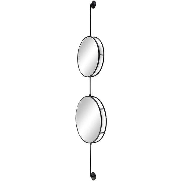 Wandspiegel Brille, schwarz