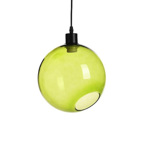 Hängeleuchte aus Glas, rund, grün