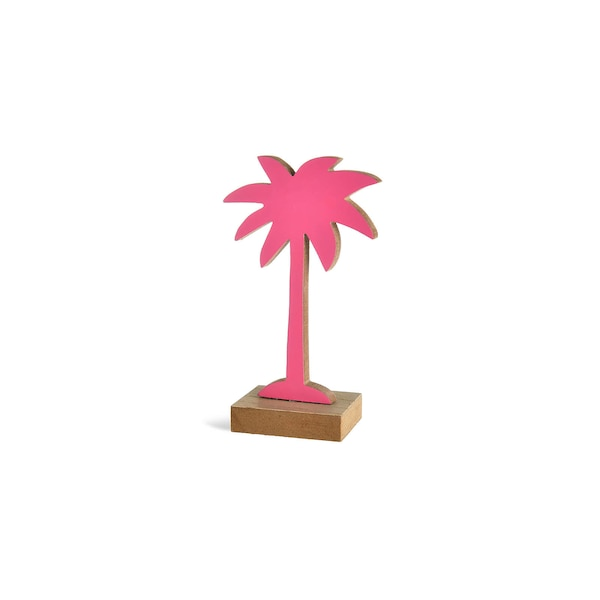 Objet décoratif Palmier, rose vif