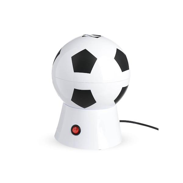 Popcornmaschine Fußball, weiß