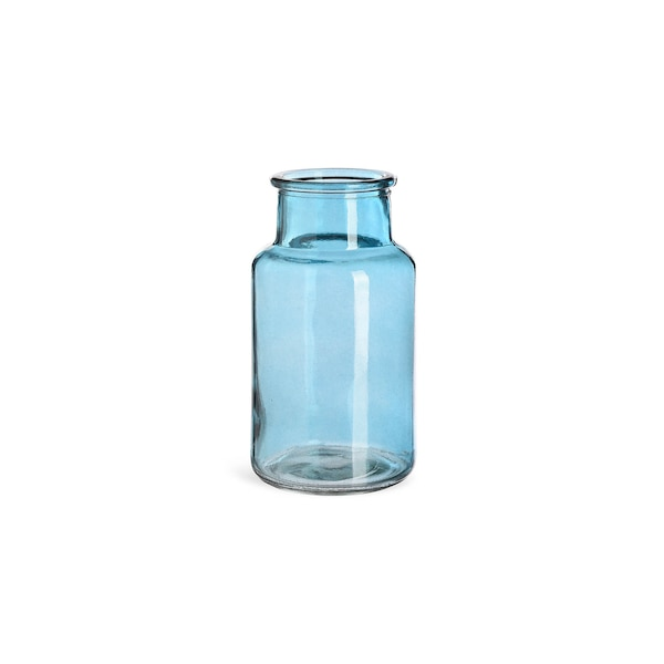 Vase aus Glas, türkis