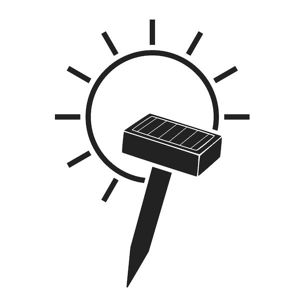 Solarlichterkette Lampions, 10 LED, weiß