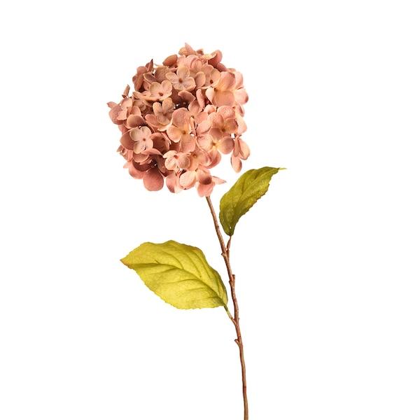 Kunststielblume Hortensie, altrosa