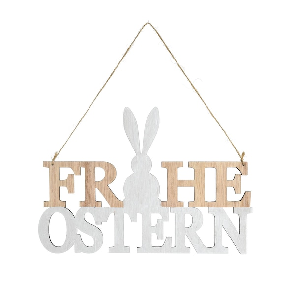Anhänger Frohe Ostern , weiß