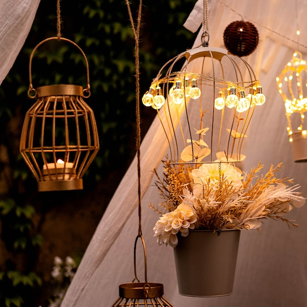 Romantische Outdoor-Beleuchtung