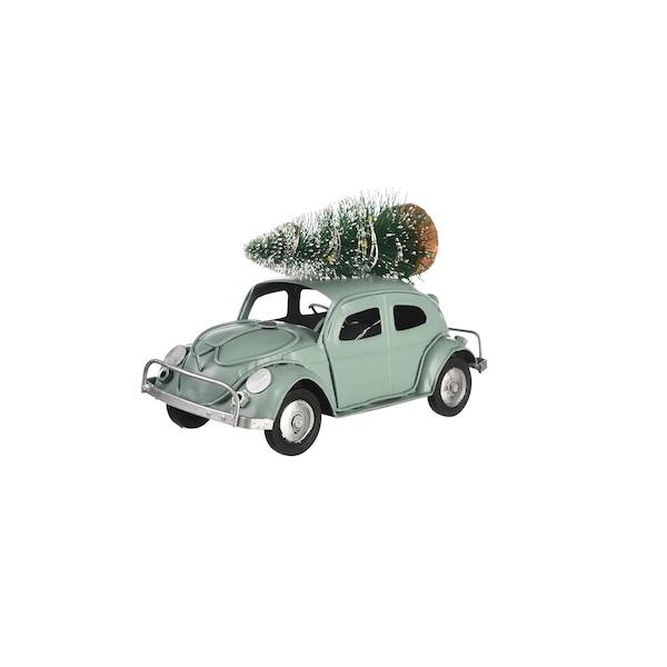 Leuchtobjekt Auto mit Baum, mintgrün