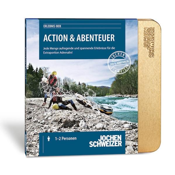 Gutscheinbox Action und Abenteuer - nur erhältlich in Deutschland, bunt