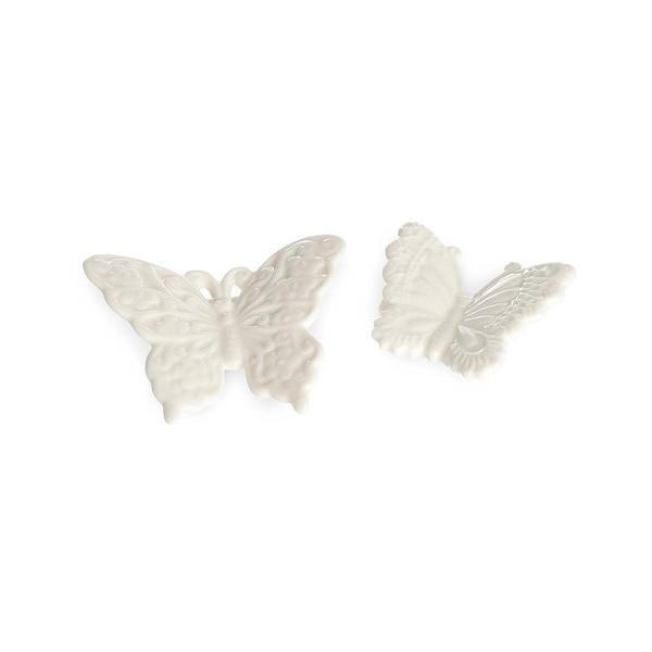 Figurine décorative papillon, blanc