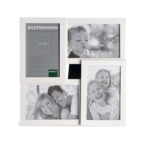 Cadre pour 4 photos, blanc